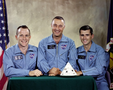 Official crew photograph of Apollo 1 crew.