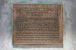Memorial plaque for crew of Apollo 1 at LC 34.