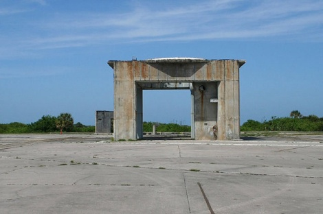Launch pedestal at Launch Complex 34.
