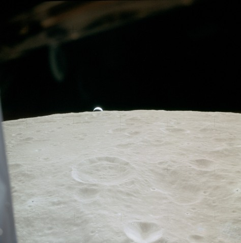 View in Lunar orbit from Lunar Orbit from Lunar Module 'Antares'.