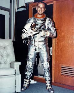 Alan Shephard in Mercury spacesuit