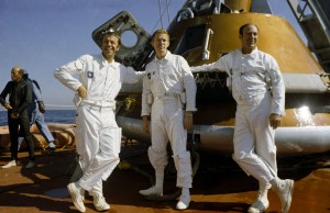 Apollo 14 crew after themselves and 'Kitty Hawk' are successfully transferred to the recovery air craft carrier USS New Orleans.