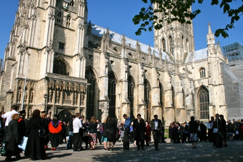 Canterbury Cathedral - bathed in sunshine on a Spring afternoon.