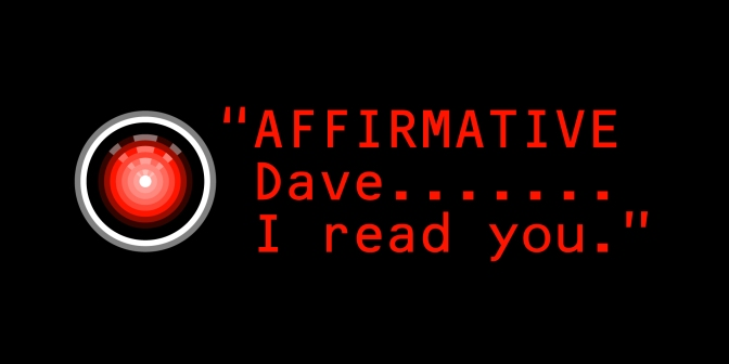 ". . . ""affirmative Dave, I can hear you . . . """