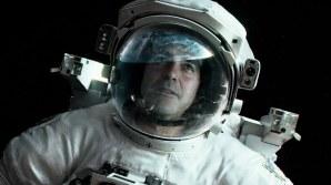 Astronaut Matt Kowalski (George Clooney) in a scene from the film 'Gravity'.