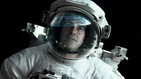 Astronaut Matt Kowalski (George Clooney) in a scene from the film 'Gravity'.