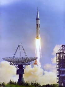 The launch of Apollo 7 from Launch Complex 34.