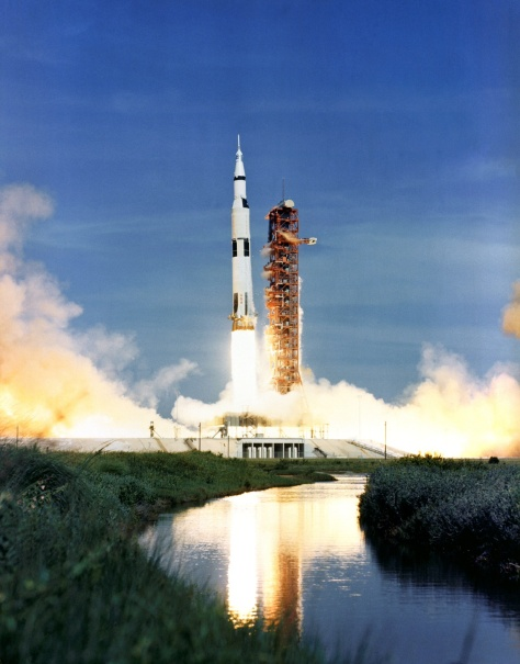 Lift off for Apollo 15, July 26th 1971.