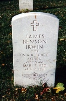 The grave of James Irwin at Arlington National Cemetery, Washington DC.