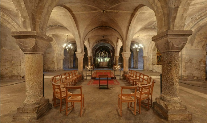 The Crypt at Canterbury Cathedral.