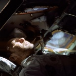 Walter Schirra pictured during Apollo 7 mission.