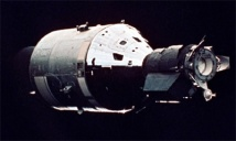 Apollo Command Module with attached dock in module.