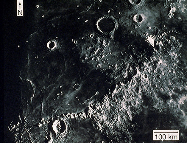Lunar Orbital image of Apollo 15 landing site