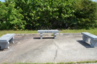 Launch Complex 34 memorial benches
