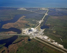 Aerial view of Launch Complex 39.