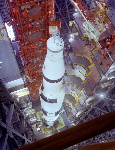 Saturn V inside of VAB.