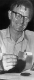 John Stout opens the Apollo 14 lunar Bible