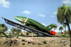 Thunderbird 2 prepares to launch.