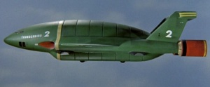 Thunderbird 2 in flight.
