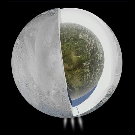 Ocean Inside Saturn's Moon Enceladus
